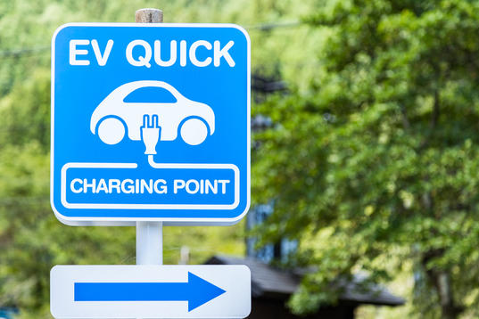 electric vehicle quick charging sign